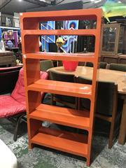 Sale 9056 - Lot 1029 - Kartell Tiered Bookshelf In Burnt Orange (H145 x 70 x 26cm)