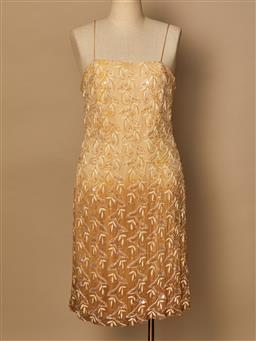 Sale 9093F - Lot 31 - A Trent Nathan Spaghetti strap sequin mini, Size 12 (good vintage condition)
