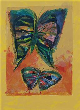 Sale 9141 - Lot 522 - Charles Blackman (1928 - 2019) Butterflies serigraph, ed. 62/75 76 x 56.5 cm (frame: 107 x 86 x 3 cm) signed lower right