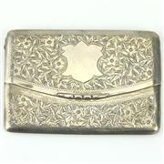 Sale 8332 - Lot 28 - English Hallmarked Sterling Silver Edward VII Calling Card Case