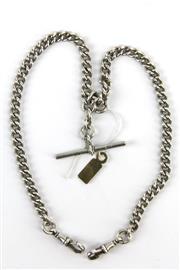 Sale 8405 - Lot 77 - English Hallmarked Sterling Silver Albert Chain