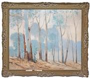 Sale 8415 - Lot 602 - William Longstaff (1879 - 1953) - Gum Trees 62.5 x 75cm