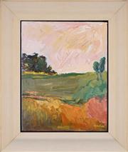 Sale 8411A - Lot 5100 - Chick Gordon (XX) - Pokolbin Landscape 35 x 27.5cm
