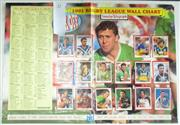 Sale 8418S - Lot 33 - 1991 RUGBY LEAGUE WALL CHART WITH STUCK DOWN CARDS, produced by The Sunday Telegraph.