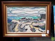 Sale 8491 - Lot 2003 - Ian Scott - Seascape 18 x 27cm