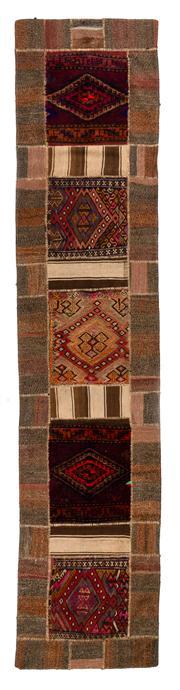 Sale 8715C - Lot 117 - A Persian Patchwork Pure Wool Pile, 410 x 88cm