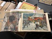 Sale 8816 - Lot 2078 - Group of Eight Japanese Colour Lithographs (AF) together with two Buddhist Murals