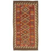 Sale 8830C - Lot 39 - An Afghan Nomadic Maymana Kelim in Handspun Wool 197x102 cm