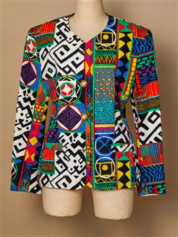Sale 9093F - Lot 32 - A Gerry Webber 1980's bold print jacket, size 36 (top button missing, otherwise in excellent vintage condition)