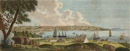 Sale 9252A - Lot 5073 - CHARLES-ALEXANDRE LESUEUR (1778 - 1846) View of Sydney, 1802 engraving 12.5 x 30.5 cm (frame: 42 x 58 x 2 cm) first published in Ger...
