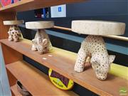 Sale 8455 - Lot 1011 - Set of 3 Animal based Stools