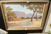 Sale 8468 - Lot 2046 - Ray Lewis - Flinders Ranges, oil on canvas board, 45 x 60cm, signed lower right