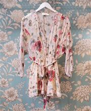 Sale 8474A - Lot 22 - A pretty Zimmerman chiffon playsuit, in good condition, size 2
