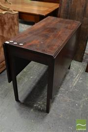 Sale 8500 - Lot 1048 - Georgian Drop Leaf Mahogany Dining Table with Tapering Gate-Legs