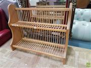 Sale 8601 - Lot 1418 - Timber Plate Rack