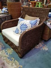 Sale 8657 - Lot 1095 - Pair of Seagrass Lounge Chairs