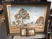 Sale 8784 - Lot 2088A - 3 Works: P. Coady - Gum Tree, oil, SLR, Plus 2 Miniatures