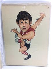 Sale 8863S - Lot 10 - Peter Bedford, Swans. Brownlow Medallist 1970, Peter played 178 games for South Melbourne, scoring 325 goals. He was captain 1973 to...