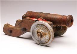 Sale 9104 - Lot 4 - A Decorative Replica Military Canon (L 36cm)