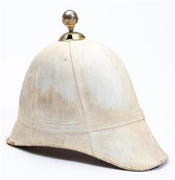 Sale 9130E - Lot 21 - White police hat marked to interior W.Jones & co, ... London...., Length 34cm