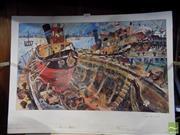 Sale 8407T - Lot 2077 - John Perceval (1923 - 2000) - Tug Boat in a Boat 36 x 59.5cm