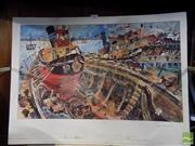 Sale 8347A - Lot 90 - John Perceval (1923 - 2000) - Tug Boat in a Boat 36 x 59.5cm