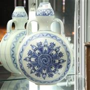 Sale 8362 - Lot 70 - Chinese Blue & White Moon Flask Vase