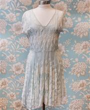 Sale 8474A - Lot 23 - A beautiful 4 Love and Liberty USA Silk embroidered dress, incl silk slip,  excellent condition, size M