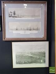 Sale 8544 - Lot 2035 - (2 works) Oswald Walters Brierly, hand-coloured engraving,  77 x 88cm (frame size) & and a Framed Facsimile Print