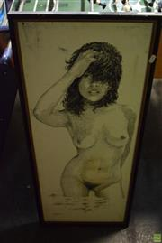 Sale 8569 - Lot 2093 - Nude Study Ink Picture