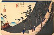Sale 8622 - Lot 2003 - After Utagawa Hiroshige (1979 - 1858) - Station 26: Nissaka, Sayo no Nakayama (from the Fifty-three Stations of the Tokaido) 21.5 x...