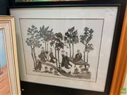 Sale 8627 - Lot 2021 - Large Framed Batik Artwork