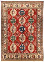 Sale 8790C - Lot 6 - An Afghan Kazak 100%Wool And Natural Dyes, 382 x 296cm
