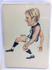 Sale 8863S - Lot 11 - Keith Greig, North Melbourne. Winner of the Brownlow Medal in 1973 and 1974, Keith played 294 games for Norths between 1971 and 1985...