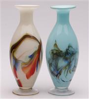 Sale 9052 - Lot 97 - Pair of Art Glass Vases (H:24cm)