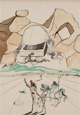 Sale 9161 - Lot 598 - SALVADOR DALI (1904 - 1989) Path to Wisdom - The Banker lithograph 60 x 43 cm (frame: 76 x 55 x 2 cm) signed in pencil