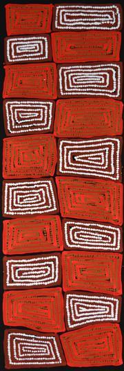 Sale 8316 - Lot 510 - Thomas Tjapaltjarri (c1964 - ) - Tingari 100 x 30cm