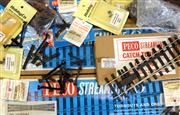 Sale 8376 - Lot 52 - Large Assortment of O Gauge Rails; incl Peco Streamline O, plus turnout blades and brackets, ground signals, signal posts, rail join...