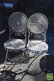 Sale 8390 - Lot 1362 - Set of 4 Metal Outdoor Chairs