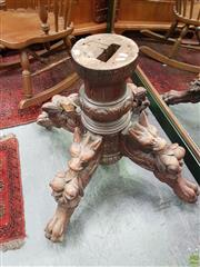 Sale 8601 - Lot 1309 - Antique German Oak Carved Dining Table Base