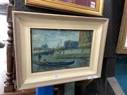 Sale 8888 - Lot 2004 - Artist Unknown (early C20th) Venice il Molo watercolour, 30 x 39cm (frame), signed and inscribed