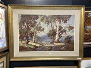 Sale 8891 - Lot 2047 - Johan Oldert - Country Track, oil on board, 72.5 x 98cm (frame), signed