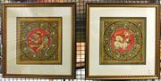 Sale 8941 - Lot 2037 - Pair of Indian Paintings by Maung Mya, 46 x 45cm (frames) -