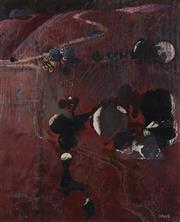 Sale 9084 - Lot 591 - Lawrence Daws (1927 - ) - Bathurst II, 1988 29 x 24 cm (frame: 57 x 51 x 4 cm)