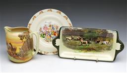 Sale 9093P - Lot 87 - Royal Doulton Jug, Sandwich Tray and Bunnykins Plate