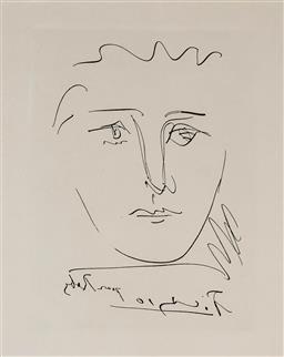 Sale 9154JM - Lot 5065 - PABLO PICASSO (1881 - 1973) Pour Roby - LAge de Soleil, 1950 etching (restrike) 23 x 17 cm (frame: 50 x 40 x 2 cm) signed in plate