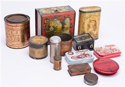 Sale 9190E - Lot 57 - A collection of vintage tins