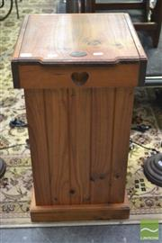 Sale 8289 - Lot 1038 - Timber Lift Top Storage Cabinet