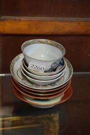 Sale 8306 - Lot 81 - Chinese Tea Bowl & Saucer (AF) with Other Chinese Miniature Dishes