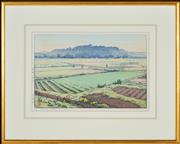 Sale 8349 - Lot 595 - Hiroshi Yoshida (1876 - 1950) - Hikone Castle in Spring 25.5 x 38cm